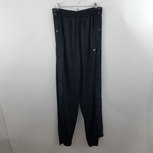 Nike M Snap Sides Black Pants Satin Sweatpants Shi